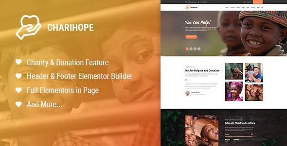 Charihope v1.0.0 — Charity and Donation WordPress Theme