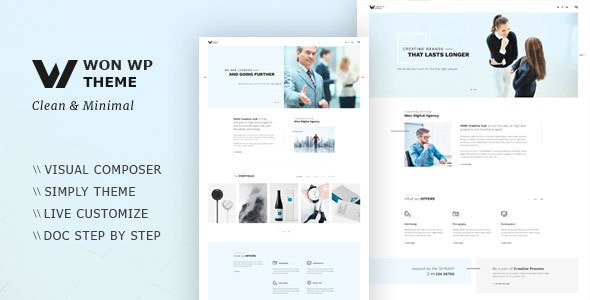WON v1.1.5 — Creative Minimal WordPress Theme
