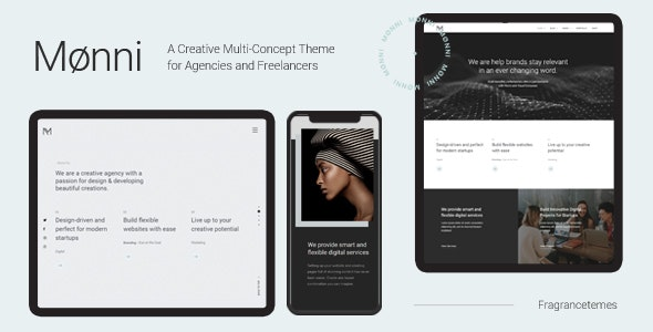 Monni v1.0 — A Creative Multi-Concept Theme for Agencies and Freelancers