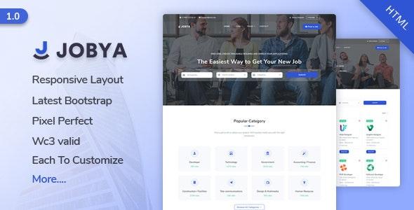 Jobya v1.0 — Job Listing HTML5 Template