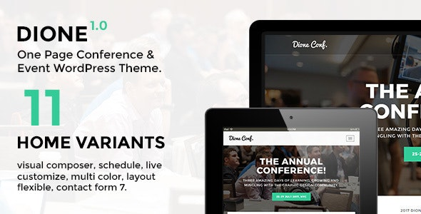 Dione v1.1.5 — Conference & Event WordPress Theme