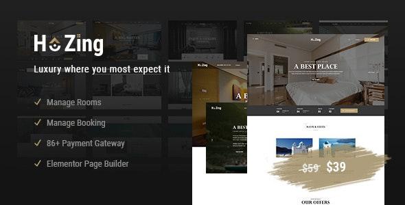 Hozing Hotel Booking v1.0.5 — WordPress Theme