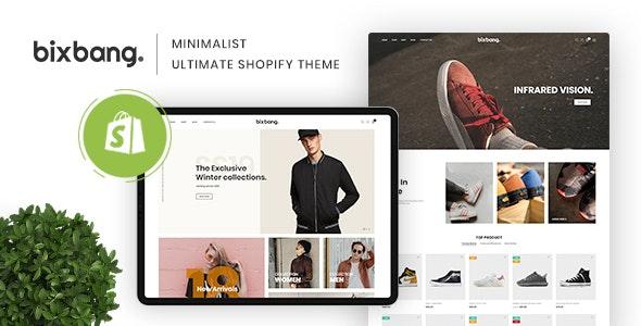 Bixbang v1.0 — Minimalist eCommerce Shopify Template