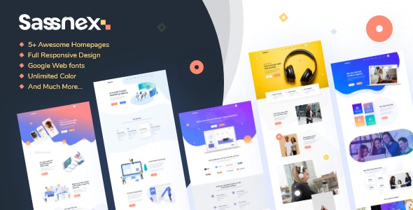 Sassnex v1.0 — Multi-concept WordPress Theme for App, Saas & Startup