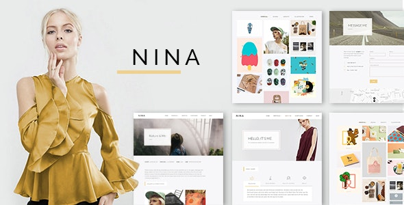 Nina v1.0.2 — A Minimal and Creative Portfolio WordPress Theme