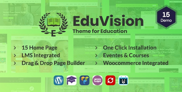 Eduvision v1.0 — Online Course Multipurpose Education WordPress Theme
