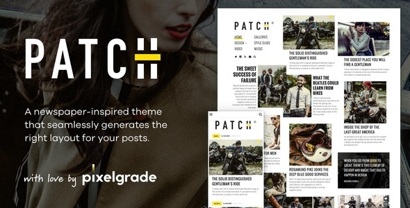 Patch v1.5.0 — Unconventional Newspaper-Like Blog Theme