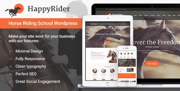 Happy Rider v1.6 — Horse School & Equestrian Center WordPress Theme