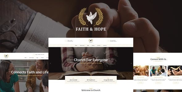 Faith & Hope v1.2 — A Modern Church & Religion Non-Profit WordPress Theme