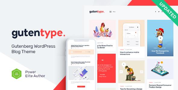 Gutentype v1.9.1 — 100% Gutenberg WordPress Theme