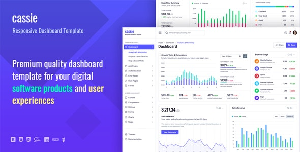 Cassie 1.0 — Responsive Dashboard and Admin HTML5 Template