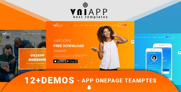 VniApp — Showcase Mobile App HTML Template
