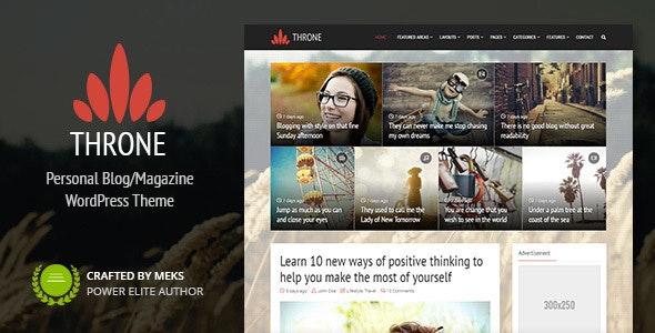 Throne v1.8.2 — Personal Blog/Magazine WordPress Theme