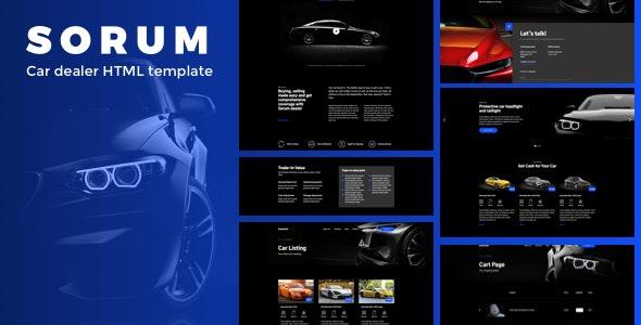 Sorum v1.0 — Car Dealer HTML Template