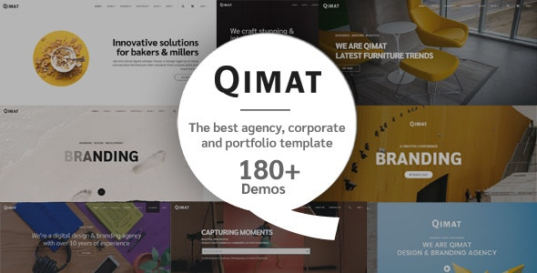 QIMAT v1.0 — Creative Agency, Corporate and Portfolio Multi-purpose Template
