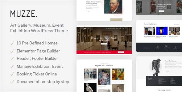 Muzze v1.1.3 — Museum Art Gallery Exhibition WordPress Theme