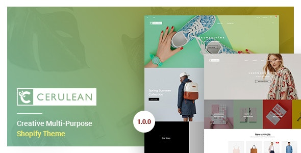 Cerulean v1.0 — Creative Multi-Purpose Shopify Theme