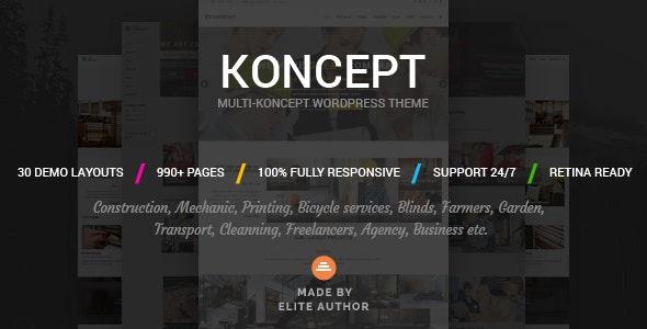 Koncept — Responsive Multi-Concept WordPress Theme