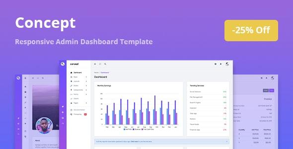 Concept v1.0.0 — Responsive Admin Dashboard Template