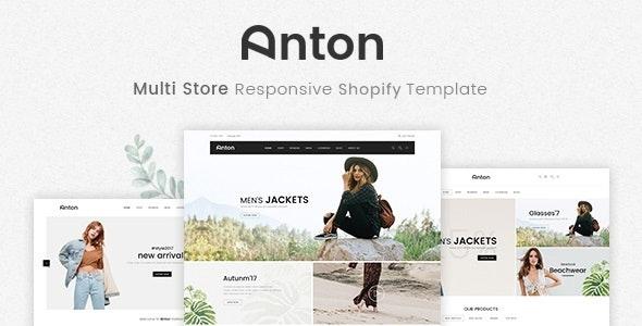 Anton v1.0.0 — Multi Store Responsive Shopify Theme