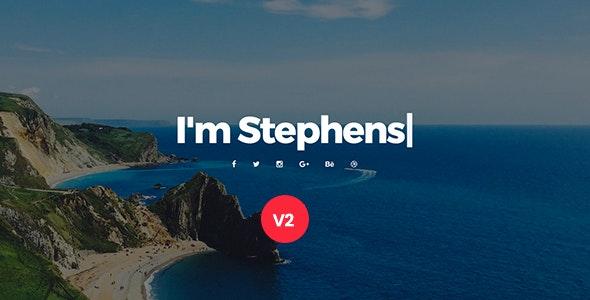 Stephens v2.0 — Personal Portfolio Template