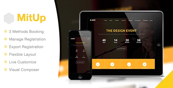 MitUp v1.1.7 — Event & Conference WordPress Theme