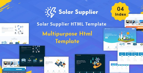 Solar Supplier v1.0 — Responsive HTML Template