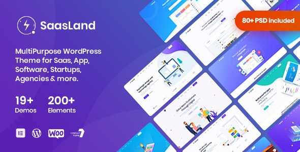 SaasLand v1.9.7 — MultiPurpose Theme for Saas & Startup