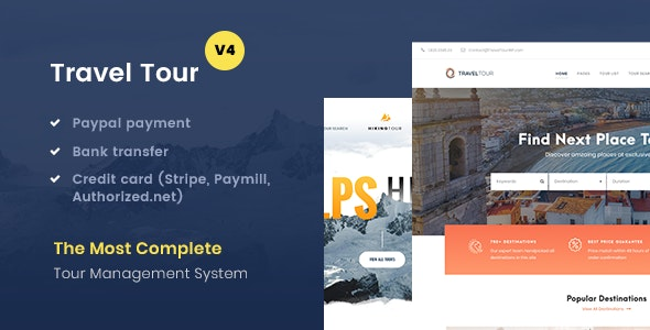 Travel Tour v4.1.6 — Tour Booking, Travel Booking Theme