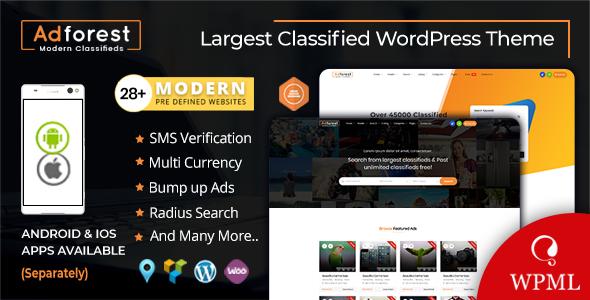 AdForest v4.2.4 — Classified Ads WordPress Theme