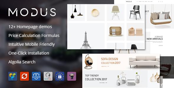 Modus v1.5.3 — Modern Furniture WooCommerce Theme