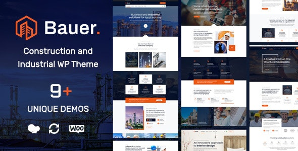 Bauer v1.2 — Construction and Industrial WordPress Theme