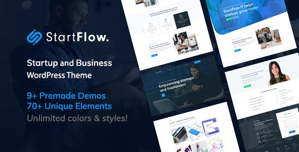 Start Flow v1.2 — Startup and Creative Multipurpose WordPress Theme