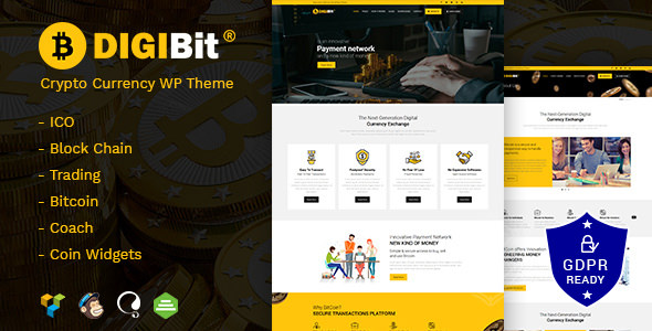 DigiBit v1.3 — Cryptocurrency Mining WordPress Theme
