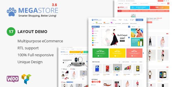 Mega Store v3.7 — Super Market RTL Responsive Theme