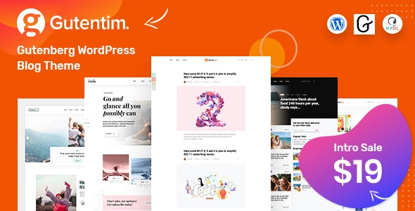 Gutentim v1.1 — Modern Gutenberg WordPress Blog Theme