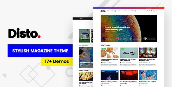 Disto v1.6 — WordPress Blog Magazine Theme