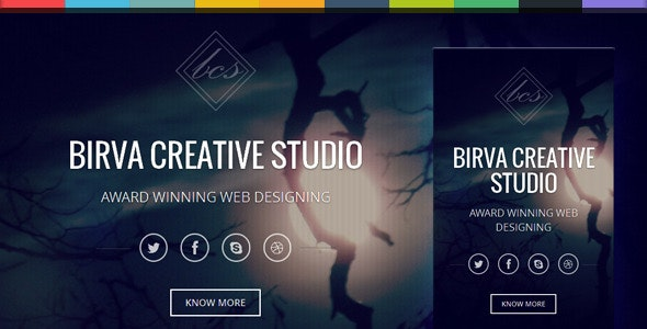 Birva v1.0 — Bootstrap Parallax One Page Template