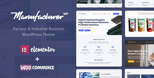Manufacturer v1.1.6 — Factory and Industrial WordPress Theme