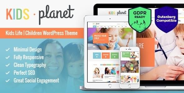 Kids Planet v2.2.3 — A Multipurpose Children WordPress Theme for Kindergarten and Playgroup