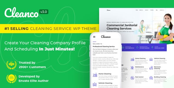 Cleanco v3.1.0 — Cleaning Company WordPress Theme
