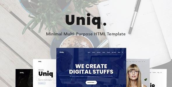 Uniq v1.0 — Minimal Multipurpose Creative HTML Template