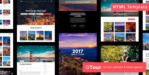 Grand Tour v1.0 — Travel Agency HTML Template