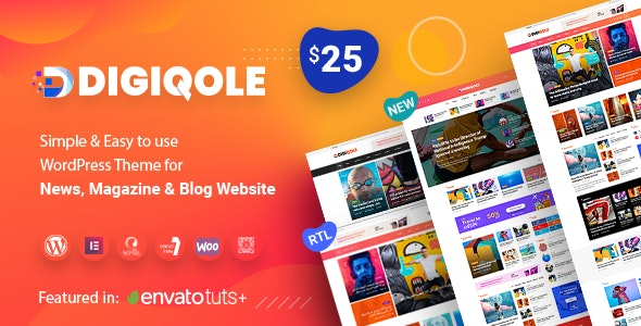 Digiqole v1.1.2 — News Magazine WordPress Theme