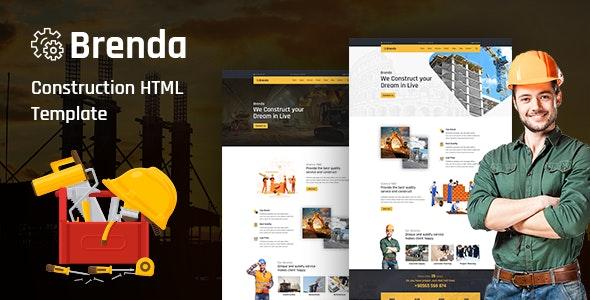 Brenda v1.0 — Construction HTML5 Template