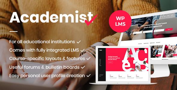 Academist v1.5 — Education & Learning Management System Theme