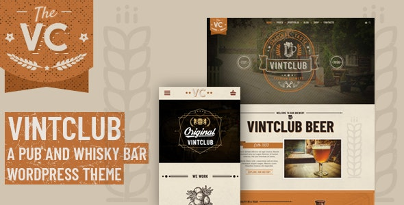 VintClub v1.0.4 — A Pub and Whisky Bar WordPress Theme