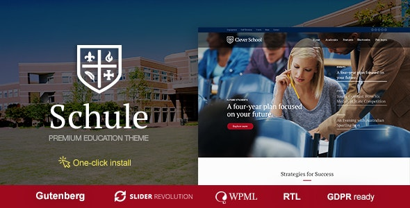 Schule v1.0.6 — School & Education Theme