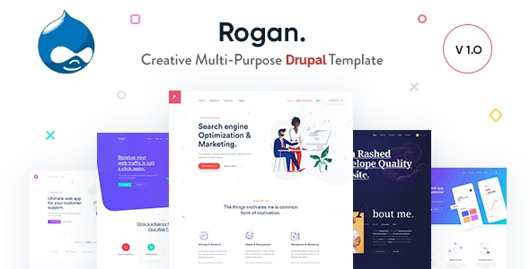 Rogan v1.5 — Creative Multi-Purpose Drupal 8 Theme