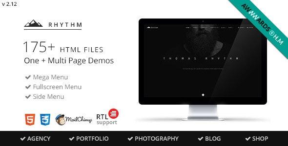 Rhythm v2.13 — Multipurpose One/Multi Page Template